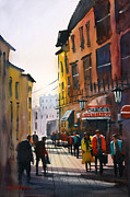 Impressionistic Painting Originals - Tourists in Italy by Ryan Radke
