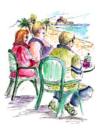 Rioja Prints - Tourists on The Costa Blanca in Spain Print by Miki De Goodaboom