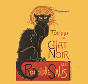 Noir Digital Art - Tournee au Chat Noir by Steinlen