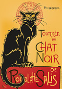 Chat Digital Art Posters - Tournee du Chat Noir - Black Cat Tour Poster by RochVanh
