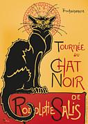 Tournee Du Chat Noir - Black Cat Tour Print by RochVanh