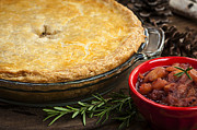 Quebec Metal Prints - Tourtiere meat pie Metal Print by Elena Elisseeva