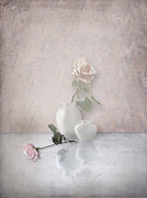 Interior Still Life Photo Metal Prints - Tout En Rose Metal Print by Artskratches