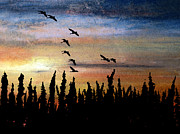 Canadian Geese Mixed Media - Toward the Light by R Kyllo