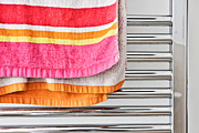 Home Appliance Posters - Towel rail Poster by Tom Gowanlock
