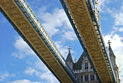 Patterned Photo Posters - Tower Bridge Poster by Christi Kraft