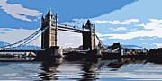 Flood Prints - Tower Bridge cut out Print by Sharon Lisa Clarke