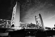 Old Sacramento Prints - Tower Bridge in BW Print by Cheryl Young