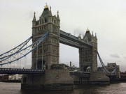 Draw Bridge Prints - TOWER BRIDGE in LONDON Print by Daniel Hagerman