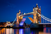 Old Tower Prints - Tower Bridge in London UK at night Print by Michal Bednarek
