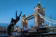 Dolphin Art Prints - Tower Bridge - London Print by Brian Jannsen