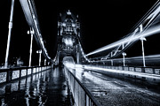 London At Night Framed Prints - Tower Bridge London Toned Framed Print by Ian Hufton