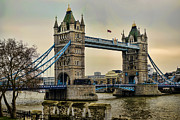 Tower Of London Prints - Tower Bridge on the River Thames Print by Heather Applegate
