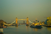 Aged Digital Art Originals - Tower Bridge by Roxana Scurtu