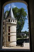 Moated Castle Prints - Tower Chateau Azay-le-Rideau Print by Christiane Schulze