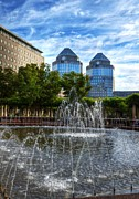 Cincinnati Framed Prints - Tower Fountains Framed Print by Mel Steinhauer