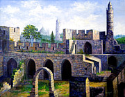 Middle East Painting Originals - Tower of David by Lou Ann Bagnall