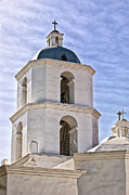 Oceanside California Posters - Tower of San Luis Rey Mission Poster by Jon Berghoff