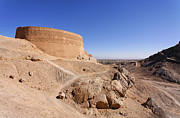 Middle Ground Photos - Tower of Silence at Yazd in Iran by Robert Preston