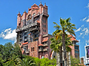 Walt Disney World Photographs Framed Prints - Tower of Terror Framed Print by Thomas Woolworth