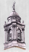 Justice Drawings - Tower over City Hall New York City by Gerald Blaikie