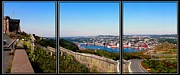St Barbara Framed Prints - Tower Over the City Triptych Framed Print by Barbara Griffin