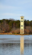 Grey Clouds Photos - Tower Reflection by Corinne Rhode