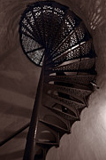 Lighthouse Photo Originals - Tower Stairs by Steve Gadomski