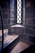 Cloistered Prints - Tower Steps and Window Print by Jill Battaglia