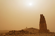 Palmyra Photos - Tower tombs Palmyra Syria in the light after a sandstorm by Robert Preston