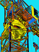 Tower Crane Posters - Towering 5 Poster by Wendy J St Christopher