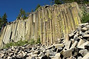 Devils Postpile Photos - Towering Basalt by Adam Jewell