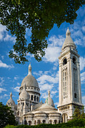 Sacre Coeur Photos - Towering Sacre-Coeur by Inge Johnsson