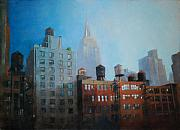 Patrick Paintings - Towers and Water Towers by Patrick Saunders