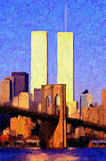 Adam Olsen - TOWERS SUNSET - oil