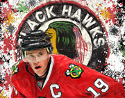 Hockey Mixed Media - Towes Chicago by Brian Verhoog