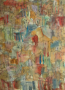 Originals Paintings - Town I by Oscar Penalber