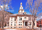 Town Of Silverton Colorado Courthouse Print by Janice Rae Pariza