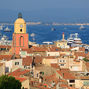 St.tropez Framed Prints - Town of St Tropez Cote dAzur France Framed Print by Matteo Colombo
