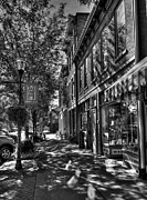 Photos Of Indiana Art - Town Of The Rising Sun BW by Mel Steinhauer