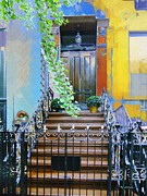 Spring Nyc Digital Art Posters - Townhouse in Spring Poster by RC deWinter