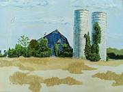 Old Barn Paintings - Townsend Farm No. 1 by Betsy Frahm