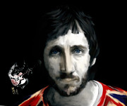 Art Lithographs Framed Prints - Townshend Pete Townshend Framed Print by Iconic Images Art Gallery David Pucciarelli