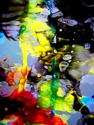 Art Glass Tapestries - Textiles - Toxic Spill by David Rogers