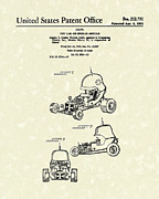 Daniel Framed Prints - Toy Car 1969 Patent Art Framed Print by Prior Art Design