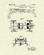 Toys Drawings - Toy Car and Track 1938 Patent Art by Prior Art Design