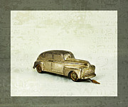 Old Automobile Posters - Toy Car Poster by Theresa Tahara