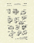 Connector Prints - Toy Connector 1952 Patent Art Print by Prior Art Design