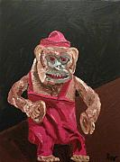 Cymbals Painting Posters - Toy Monkey with Cymbals Poster by Joshua Redman