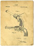 Patent Prints - Toy Pistol Circa 1920s Print by Edward Fielding